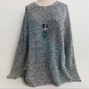 Coldwater Creek Marled Cotton Sweater Tunic